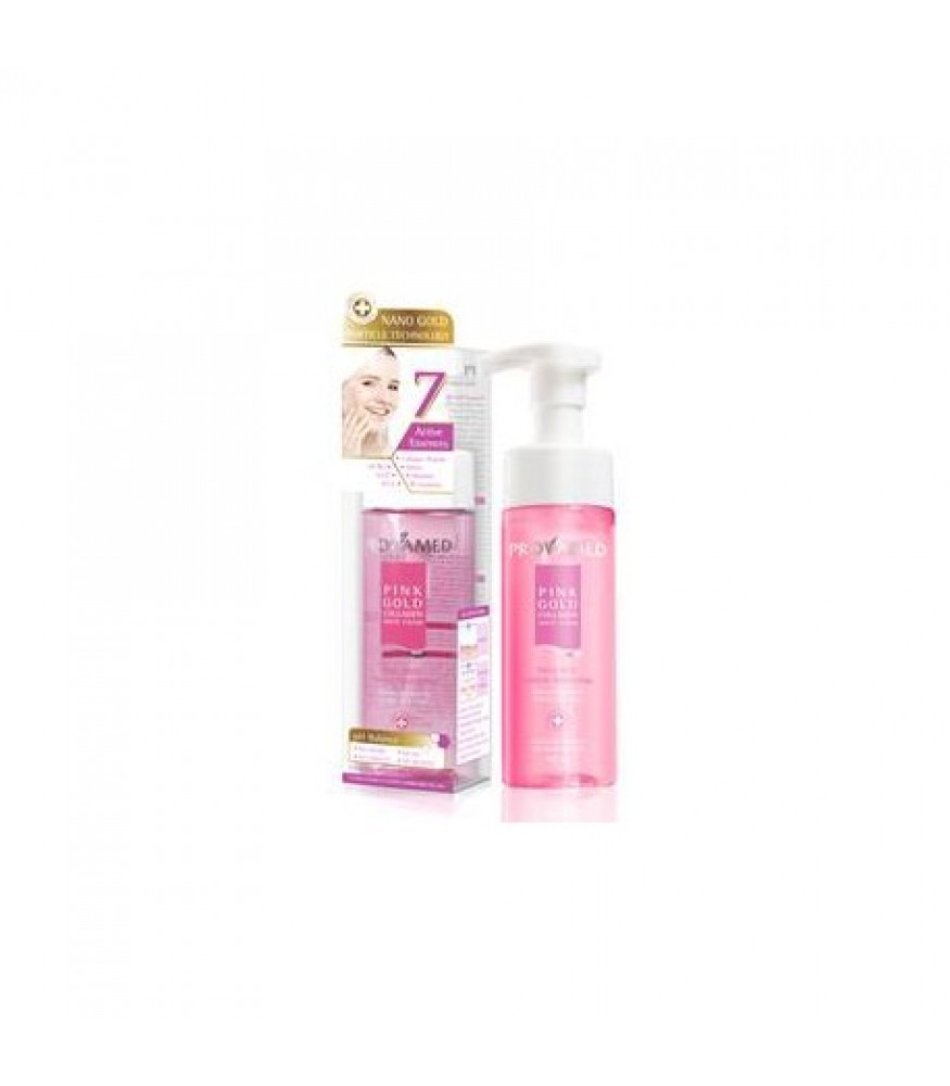 PROVAMED PINK GOLD COLLAGEN WHIP FOAM 165ML.
