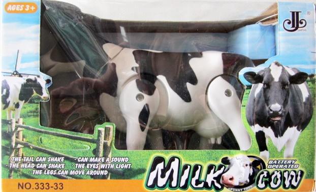 วัวนมใส่ถ่านมีเสียงเดินได้