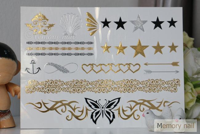 ติกเกอร์แทททู สีทอง, Flash Tattoo,แทททู สีทอง,