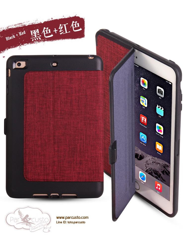 เคสซิลิโคนกันกระแทก Apple iPad Air 2, iPad mini 1/2/3 มี Cover ผ้า จาก Batu [Pre-order]