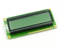 LCD 16x2 BACKLIGHT YELLOW/GREEN