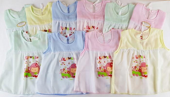 เสื้อผูกหลังผ้าป่านอย่างดี (แรกเกิด-3 เดือน ) แพค 2 ตัว