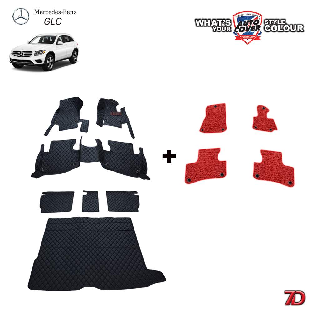 พรมรถยนต์ 7 D Anti Dust รถ MERCEDES - BENZ GLC CLASS (W253) จำนวน 7+4 ชิ้น