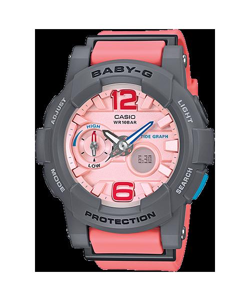 นาฬิกา คาสิโอ Casio Baby-G Standard ANALOG-DIGITAL รุ่น BGA-180-4B2 สีชมพูโอรส