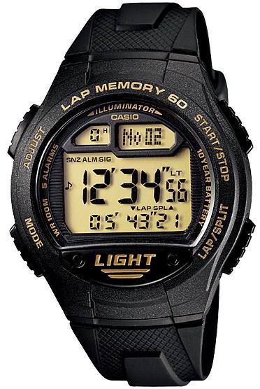 นาฬิกา คาสิโอ Casio 10 YEAR BATTERY รุ่น W-734-9A ของแท้ รับประกัน 1 ปี