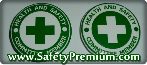 เข็มกลัด Health and Safety Committee Memmber Green & White