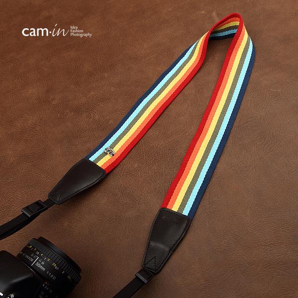 สายคล้องกล้องลายรุ้งกินน้ำสดใส cam-in Over the rainbow
