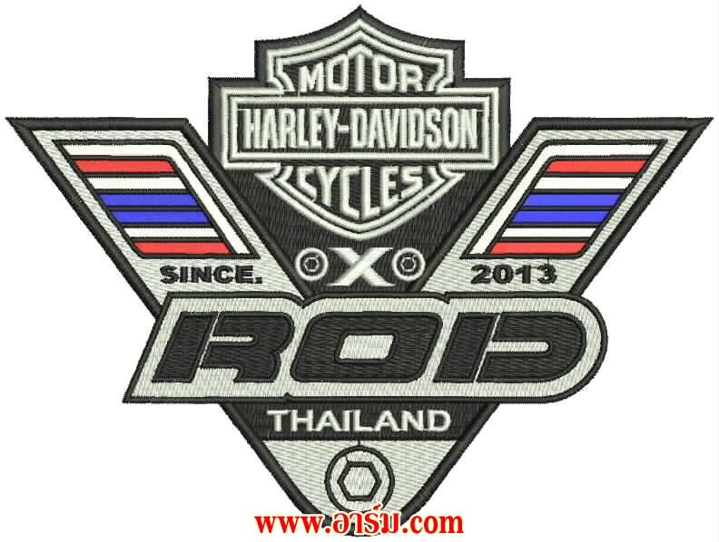 ตัวอย่างอาร์ม Harley Davidson Cycles THAILAND