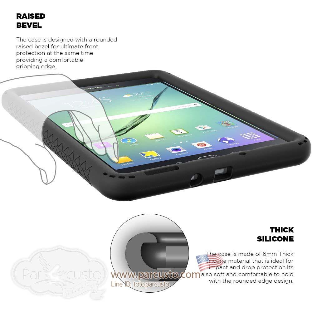 เคสกันกระแทก Galaxy Tab A 8.0 [Turtle Skin Series] จาก Poetic [Pre-order USA]