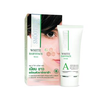 Smooth E White Babyface Serum 0.8 OZ ดูแล ฝ้าที่ผ่านการทดสอบโดยแพทย์ผิวหนัง