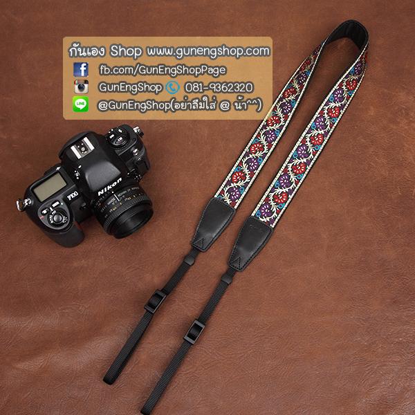 สายคล้องกล้องลายไทยสวยๆ cam-in Colourful Vine