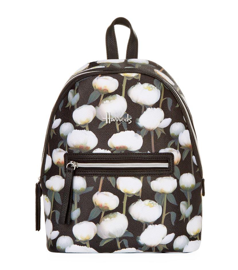 กระเป๋าเป้มินิแฮร์รอดส์ลายดอกโบตั๋นของแท้ Peony Floral Mini Backpack