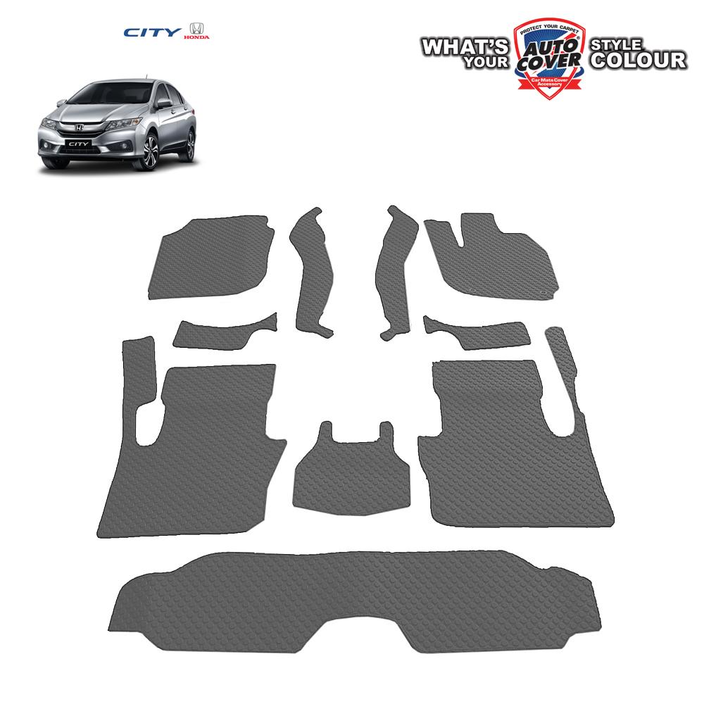 พรมกระดุม Super Save รถ Honda All New City ปี 2014-2019 ชุด Full จำนวน 10 ชิ้น