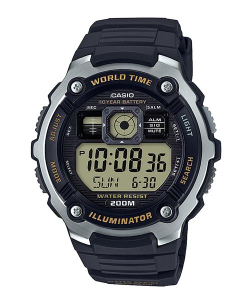 นาฬิกา Casio 10 YEAR BATTERY AE-2000 series รุ่น AE-2000W-9AV ของแท้ รับประกัน 1 ปี