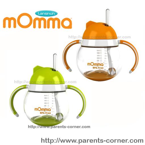 แก้วพร้อมหลอด mOmma by Lansinoh Non-Spill Sippy Cup