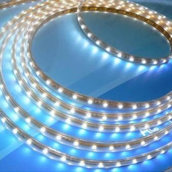 ไฟท่อ LED 2 สายกลม สีวอร์มไวท์ 10 เมตร มีคอนโทรล