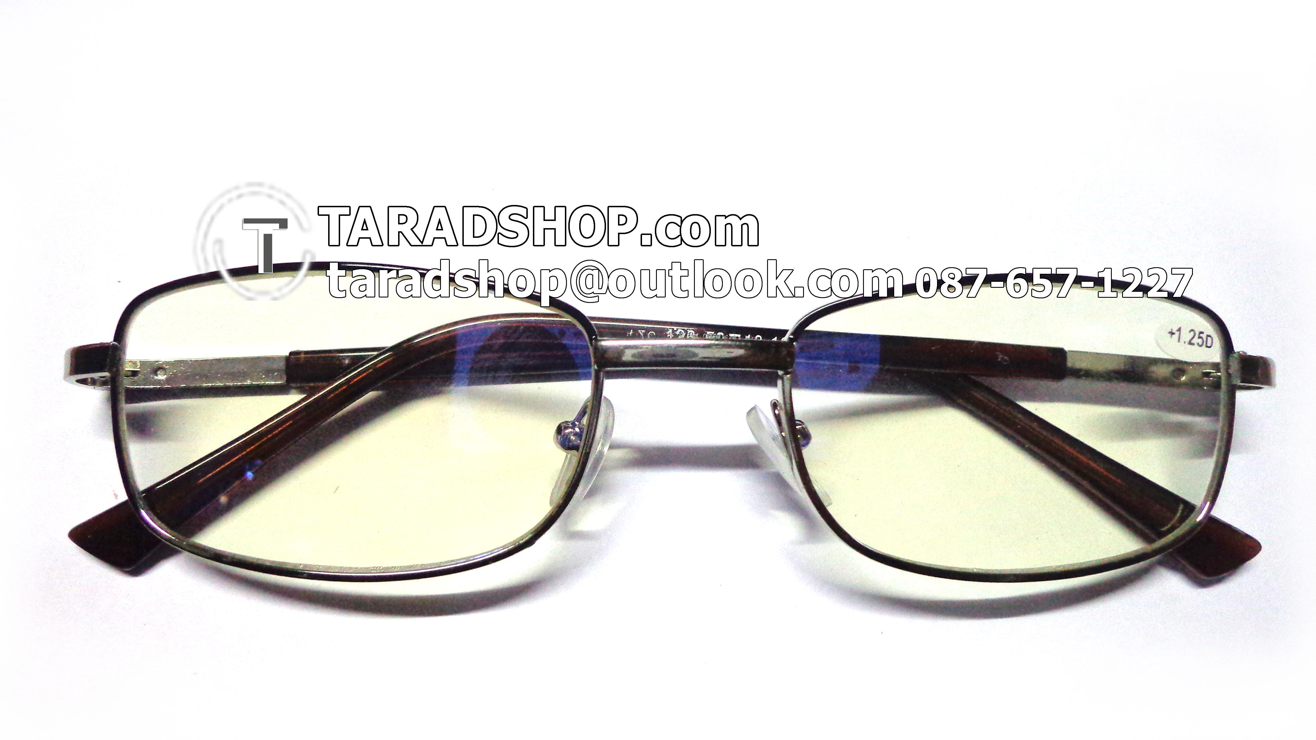 แว่นสายตา ยาว +1.25D ( สีเลนส์ กระจกใส ) สีกรอบ กระจกใส ) ขา สแตนเลส )