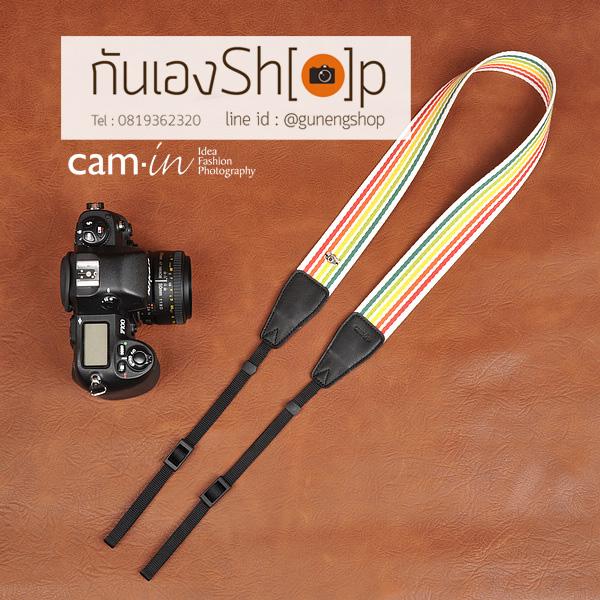 สายกล้องคล้องคอ cam-in Bright Rainbow