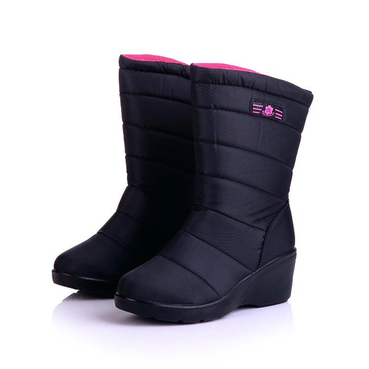 SH114-50 รองเท้ากันหนาวผ้า nylon น้ำหนักเบา พื้นยางหนา มีดอกยางกันลื่น บุขนนุ่มเพิ่มความอบอุ่น ใส่อุ่นสบาย size 35-40
