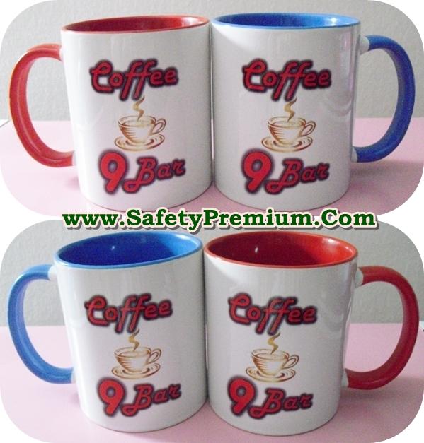 ตัวอย่างแก้วสกรีนร้านกาแฟ