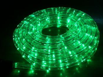 ไฟท่อ LED 2 สาย กลม สีเขียว เกรด A