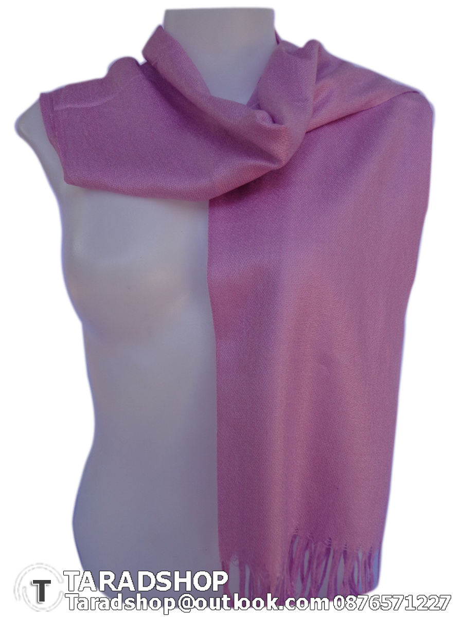 ผ้าพันคอ รับลมหนาว ( สีพื้นชมพู )