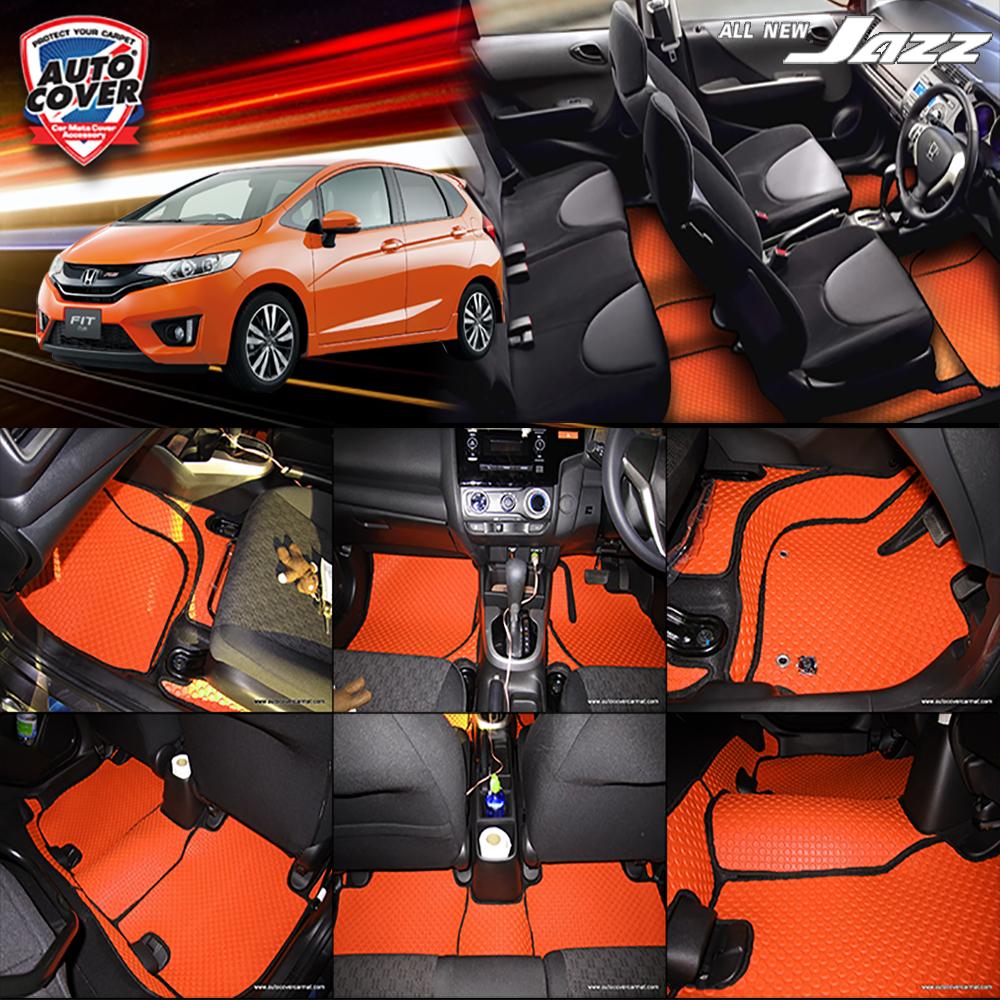 พรมกระดุม Super Save ชุด Full จำนวน 12 ชิ้น Honda All New Jazz GK 2014-2019