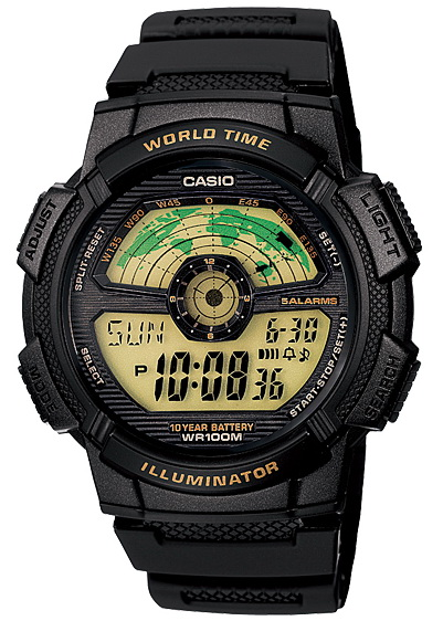 นาฬิกา คาสิโอ Casio 10 YEAR BATTERY รุ่น AE-1100W-1BV