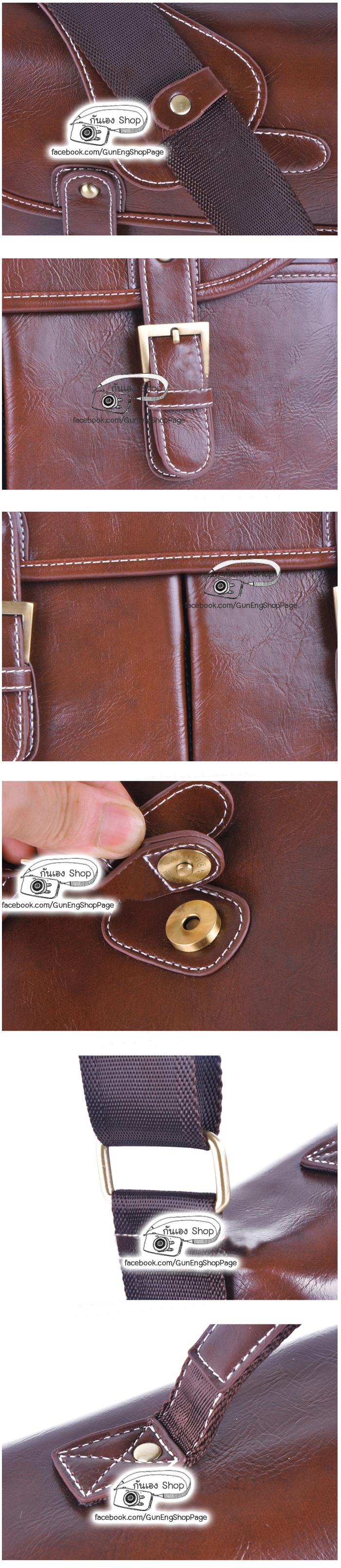 กระเป๋ากล้องหนัง Trendy Dark Brown Leather Bag (M)