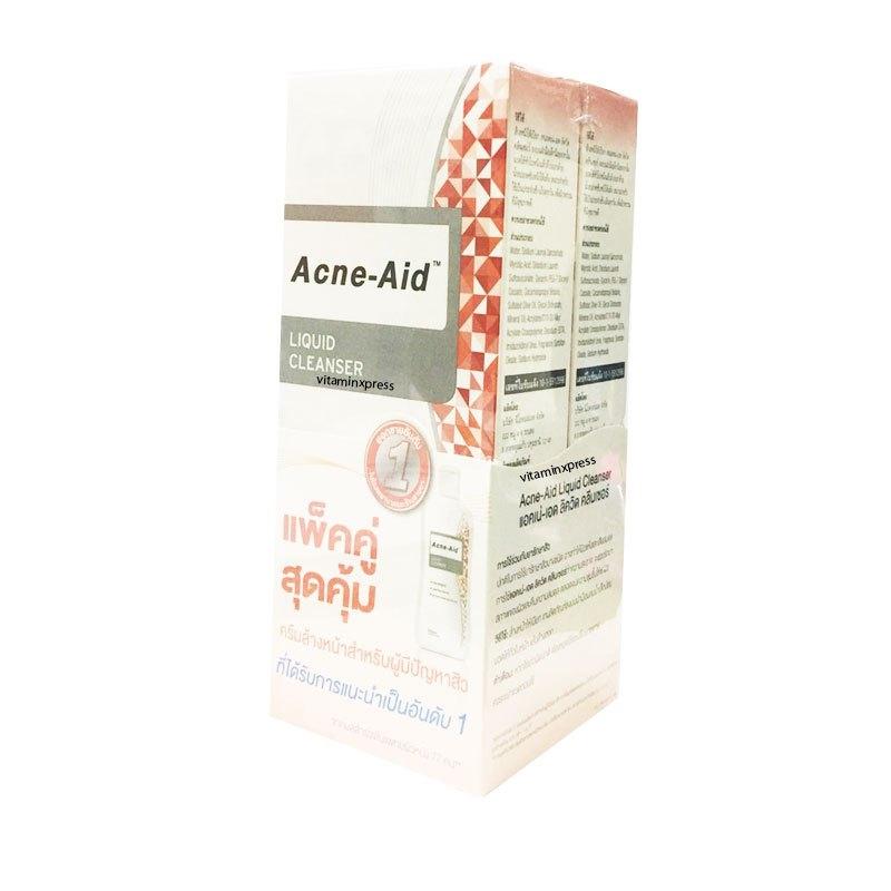 Acne-Aid Liquid Cleanser 100 ml x 2 แอคเน่–เอด ลิควิด คลีนเซอร์ แพคคู่ สุดคุ้ม จำนวนจำกัด
