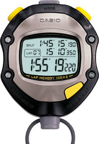 นาฬิกาจับเวลา คาสิโอ casio STOPWATCH SPORTY รุ่น HS-70W