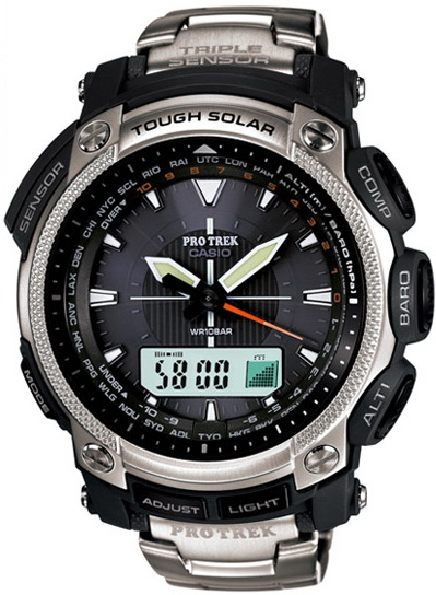 นาฬิกา คาสิโอ Casio PRO TREK ANALOG INDICATOR รุ่น PRG-505T-7D