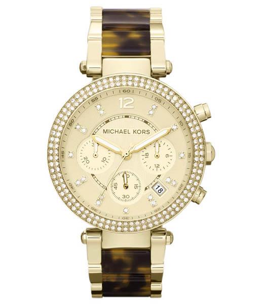 นาฬิกา Michael Kors ไมเคิล คอร์ รุ่น MK5688 Women Chronograph Parker Tortoise and Gold Tone ของแท้ รับประกัน1ปี