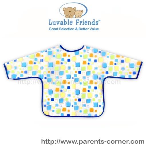 กันเปื้อนกันน้ำ Luvable Friends แขนยาว - สีฟ้า