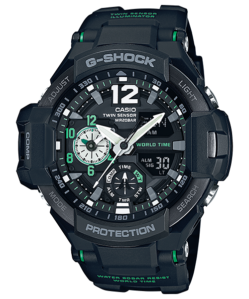 นาฬิกา คาสิโอ Casio G-SHOCK นักบิน GRAVITYMASTER รุ่น GA-1100-1A3