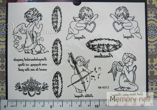 YM-K013 สติ๊กเกอร์สักแฟชั่น sticker tattoo ลายกามเทพ 15.5x10.8 cm