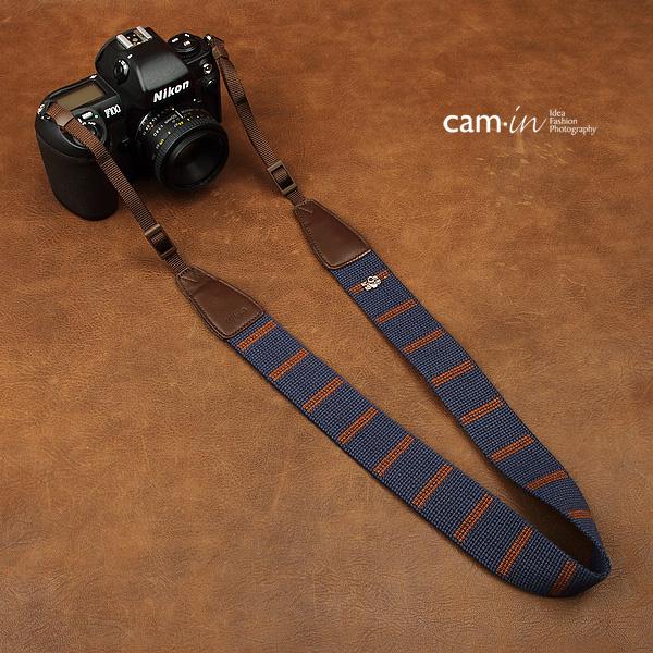 สายคล้องกล้อง cam-in Elegant Blue น้ำเงิน