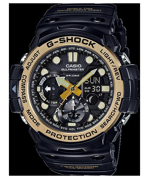 นาฬิกา Casio G-Shock GULFMASTER Twin Sensor Vintage Black&Gold series รุ่น GN-1000GB-1A ของแท้ รับประกัน1ปี