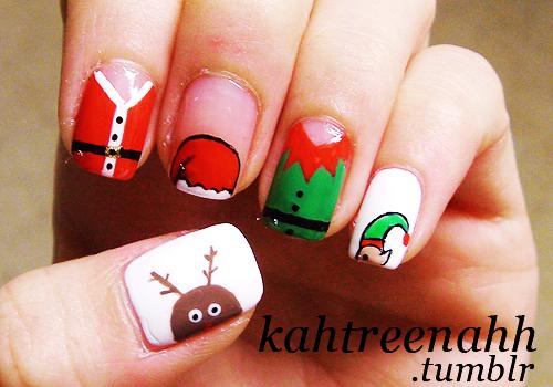 ลายเพ้นท์เล็บ วันคริสต์มาส christmas nails art