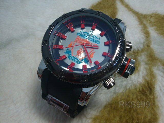 นาฬิกาข้อมือลิเวอร์พูล สีดำ (ชาย)