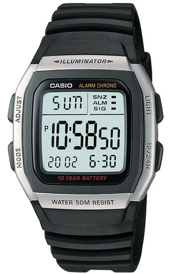 นาฬิกา คาสิโอ Casio 10 YEAR BATTERY รุ่น W-96H-1A ของแท้ รับประกัน 1 ปี
