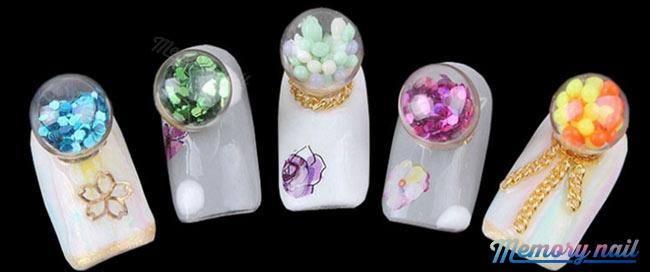 โดมลูกแก้ว,ลูกแก้วติดเล็บ,ลูกแก้วแต่งเล็บ,ลูกแก้วเจล,Crystal ball,Crystal ball nail,Crystal Ball gel,glas Crystal Ball