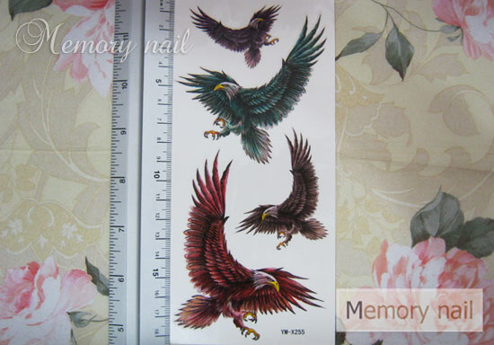 YM-X255 สติ๊กเกอร์ลายสัก tattoo ลายอินทรี 18 x 7 cm