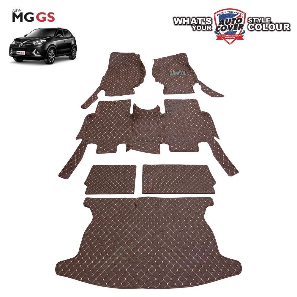 พรมรถยนต์เข้ารูป 6 D Leather Car Mat จำนวน 6 ชิ้น MG GS