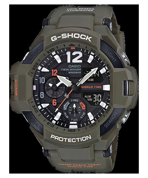นาฬิกา Casio G-Shock นักบิน GRAVITYMASTER Master in OLIVE DRAB series รุ่น GA-1100KH-3A ของแท้ รับประกัน1ปี