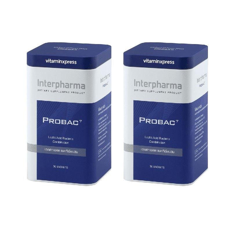 PROBAC7 ผลิตภัณฑ์เสริมอาหาร โปรแบคเซเว่น แลคติกแอซิด แบคทีเรียผสม 30 ซอง 2 กล่อง