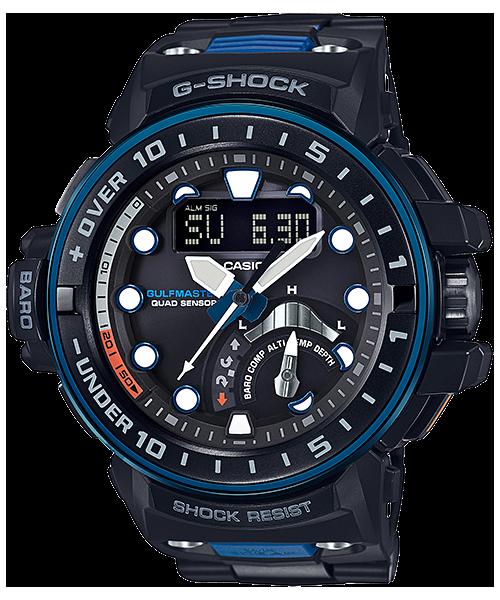นาฬิกา Casio G-Shock GULFMASTER Quad Sensor สายข้อแข็งแบบกำไล รุ่น GWN-Q1000MC-1A2 ของแท้ รับประกัน1ปี