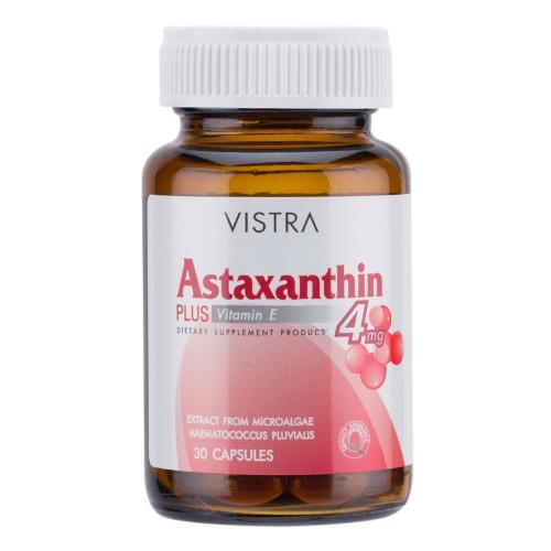 Vistra Astaxanthin 4 mg. 30 แคปซูล