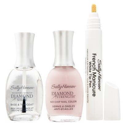ชุดเฟรนช์ปลายขาว Sally Hansen Diamond Strength French Manicure Pen Kit - Ballet Bare