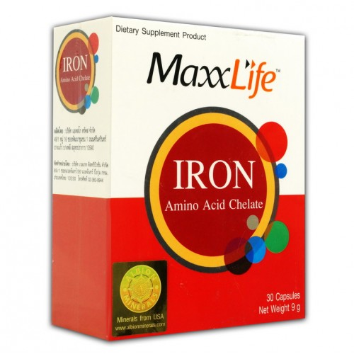 MAXXLIFE IRON AMINO ACID CHELATE (30 CAPSULES)
